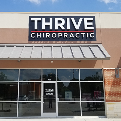 Chiropractic Katy TX Thrive Chiropractic Office Building Entrance